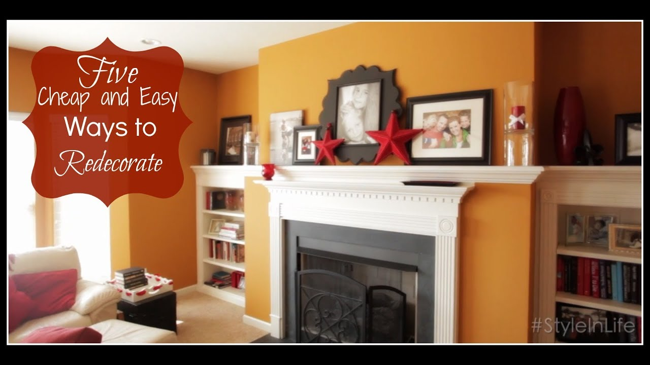 5 cheap easy ways to redecorate your home keeping style in your