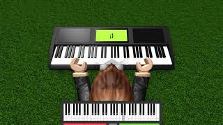 Roblox virtual piano: Imagine Dragons - Demons *EXTREME SHEETS*