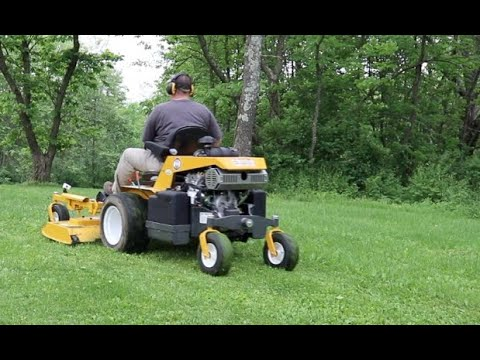 #445 WALKER 37HP Fuel Injected in The TALL GRASS! FIRST RUN, First Thoughts Commercial Mower Testing