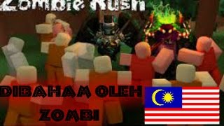 Hit with zombies [Zombie Rush] Roblox #Malaysia