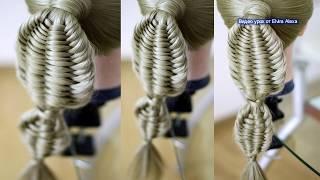 Коса Рыбий хвост  Оригинальный вариант из 4 прядей  Детские причёски  Hairstyle tutorial