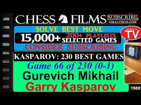 Kasparov: 230 Best Games (#66 of 230): Gurevich Mikhail vs. Garry Kasparov