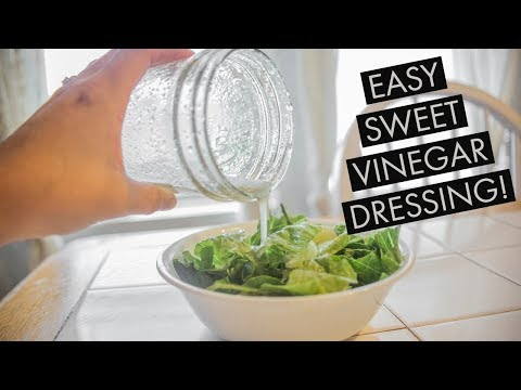EASY SWEET VINEGAR DRESSING| 3 INGREDIENTS!