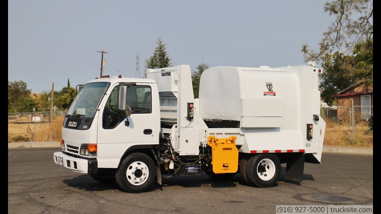 2000 Isuzu NPR Wayne Tomcat Satellite Side Load Garbage Truck For Sale By  TruckSite.com   YouTube