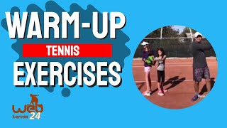 Tennis Warmup Exercises (part of a live tennis lesson from WebTennis24.com)