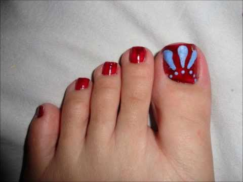 winter colors inspired toe nail