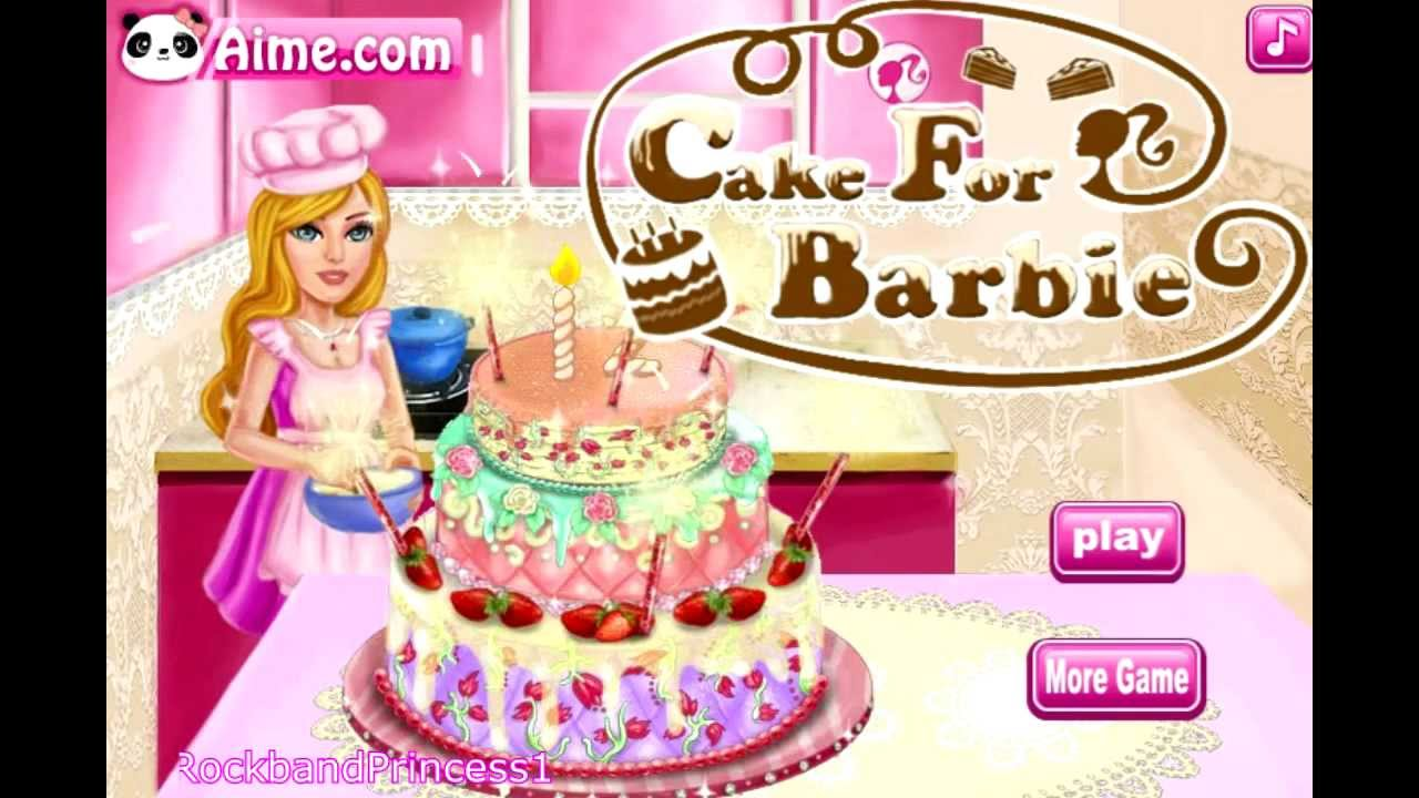 barbie cake decoration games cake for cake decorating 10417