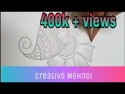 Simple Step By Step Mehndi Designs   With Paper & Pencil