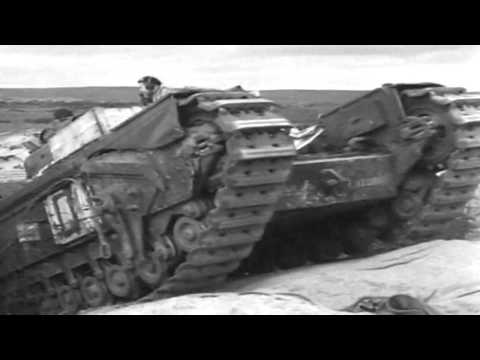 WWII British Tanks Film: Beach Obstacles 1942 (full)