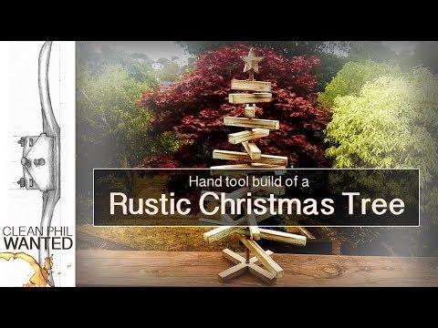 Super Easy Rustic Christmas Tree DIY!!! | Last Minute Hand Tool Gift Build