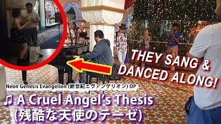 Download lagu I played EVANGELION OP (A Cruel Angel's Thesis) on piano in public