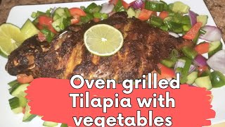 HOW TO MAKE THE BEST OVEN GRILLED TILAPIA WITH VEGETABLES - Evelyn&#39sRecipe