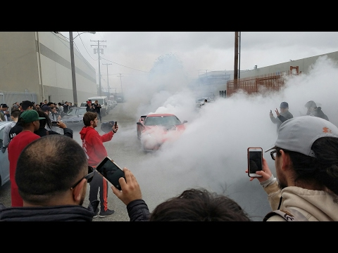 Lamborghini Gallardo Superleggera Almost CRASHES Into Crowd and Burns Clutch!! PMLQUICKSTRIKE