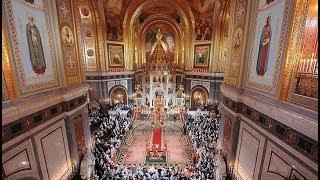 Пасхальное богослужение в Храме Христа Спасителя. Полное видео