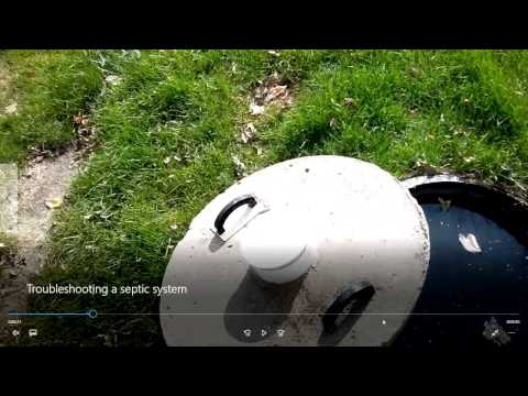 Troubleshooting a septic system