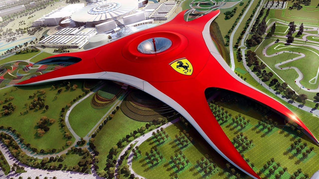 Ferrari World Theme Park In Abu Dhabi Youtube