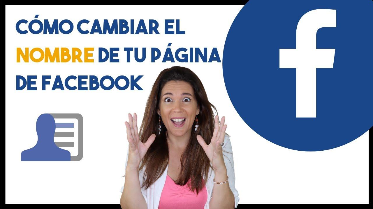 Nombre en facebook cambiar Cómo cambiar