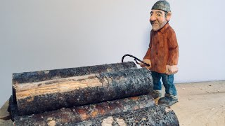 CARVING THE MAN FROM THE SAWMILL