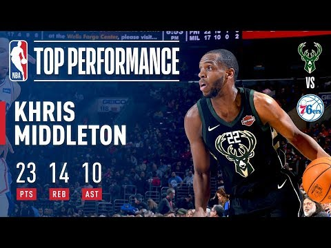 Khris Middleton Notches First Career Triple Double vs The Sixers