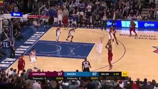 LeBron James CLUTCH 3-Pointer In Kristaps Porzingis Face - Cavs vs Knicks