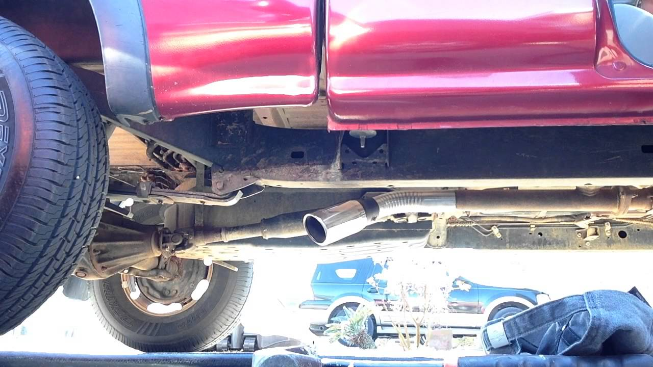 02 toyota tacoma straight pipe with