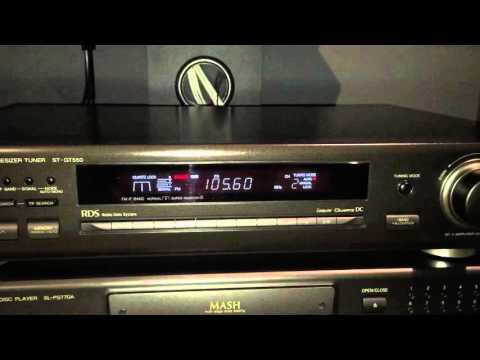 Technics ST-GT550 RDS Radio Tuner Demo