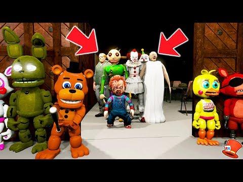 *NEW* DO NOT PLAY FNAF KINDERGARTEN AT 3AM! (GTA 5 Mods For Kids FNAF RedHatter)