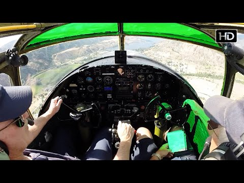 Fly along in a North American B-25 cockpit from engine start