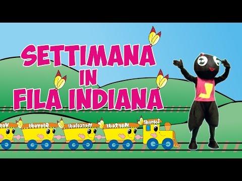 Le Filastrocche di Ludovica la Formica - Settimana in Fila Indiana [Filastrocche per bambini]