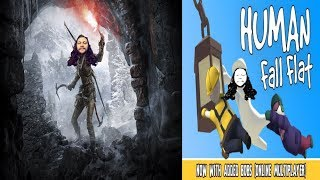 TWO FOR ONE HUMAN FALL FLAT AND RISE OF THE TOMB RAIDER part 2