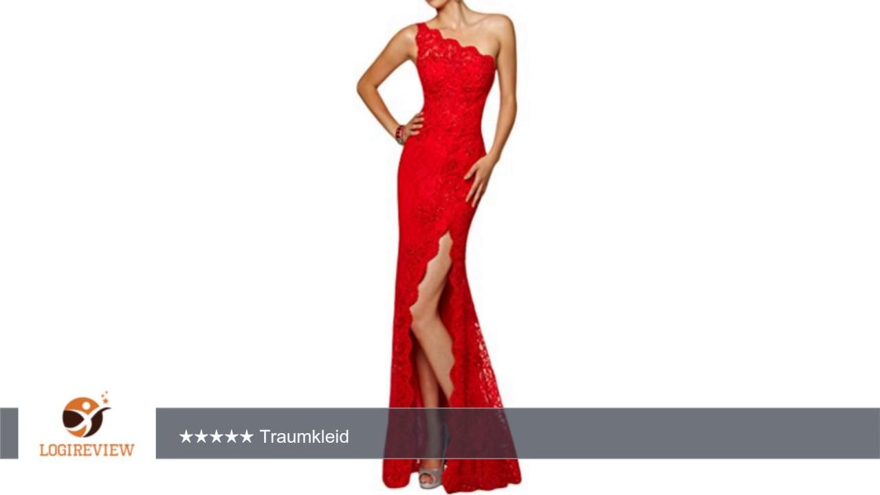 ivydressing damen ein-schulter schlitz spitze lang partykleid promkleid  abendkleid |