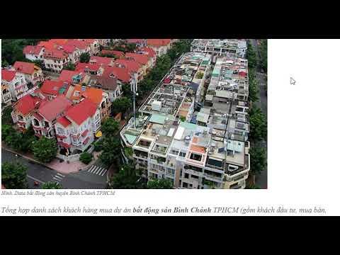Data bất động sản huyện Bình Chánh TPHCM