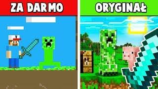 Minecraft ZA DARMO vs ORYGINAŁ! GRAM W PODRÓBKI MINECRAFT