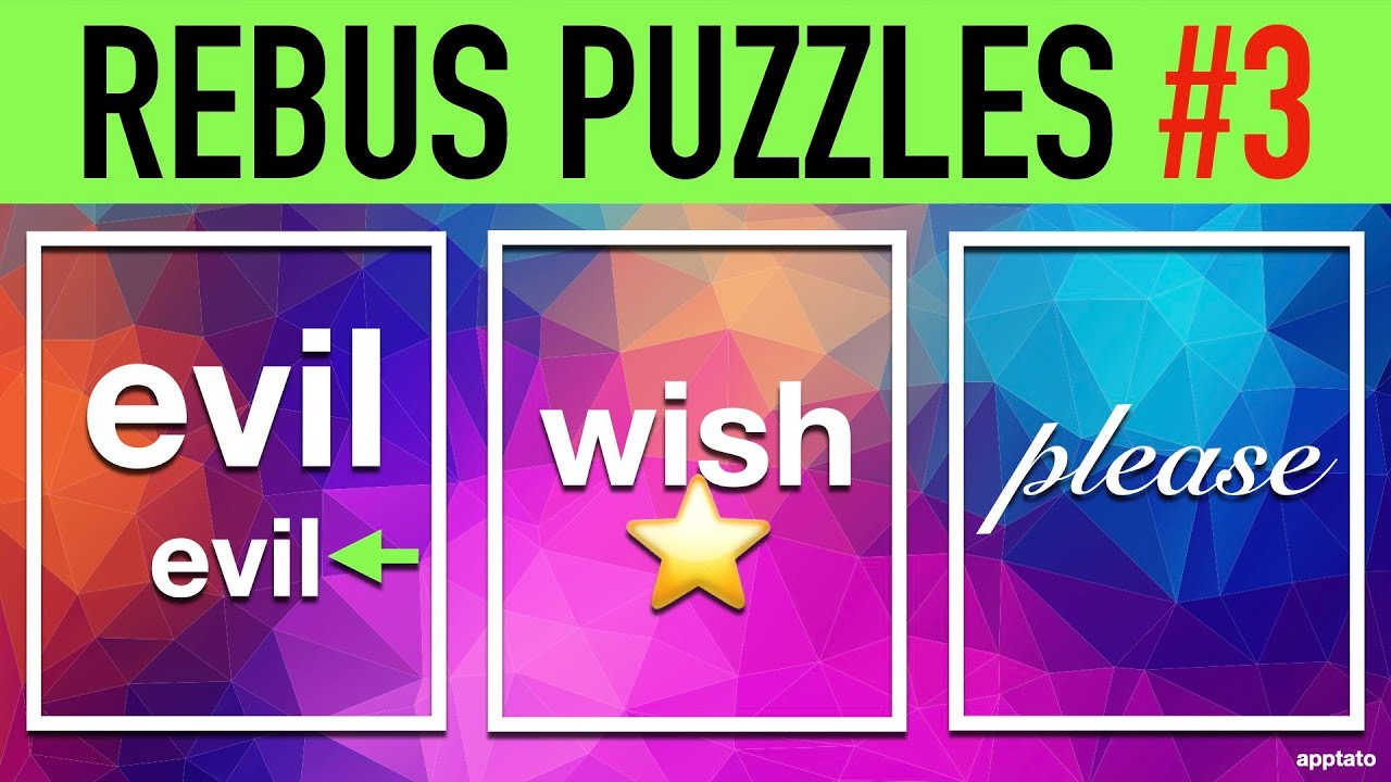 Rebus Puzzles With Answers 3 20 Picture Brain Teasers Word Games To Play On Family Game Night Youtube