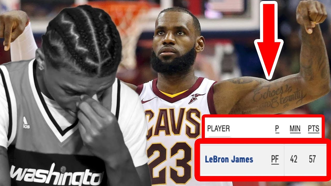 promo code 0fa5c 377aa WIZARDS FAN REACTS TO LEBRON JAMES 57 POINT PERFORMANCE!