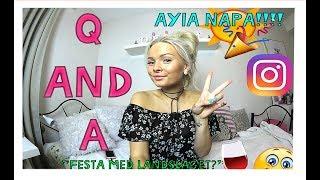 Q&A | Alkohol, Ayia Napa, appar för instabilder?