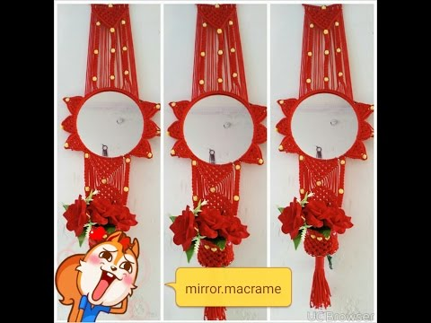 How to make  macrame mirror.at home very simple design