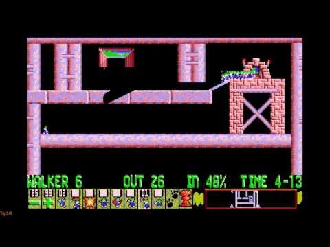 lemmings-(1991)---mayhem---level-20---no-added-colours-or-lemmings