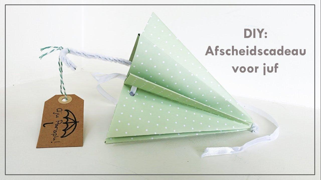 Paraplu Vouwen Van Theedoeken.Farewella Umbrella Kids Craft Thank You Present For The Teacher