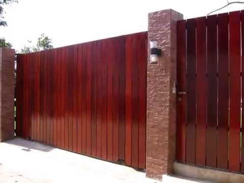 ประตูรั้วเหล็กผสมไม้สวยๆ  www.meedesigns.com ประตูรั้วเหล็ก