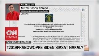 #2019PrabowoPre Siden, Siasat Nakal? Sufmi Dasco Ahmad, Inisiator Gerakan Prabowo Presiden