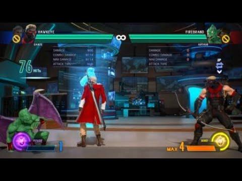 MARVEL VS. CAPCOM: INFINITE - Dante/Hawkeye 9K Combo