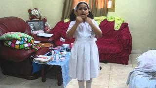 1st Prize   Hannah   Story Telling Class 3   Indian School Sohar, OMAN