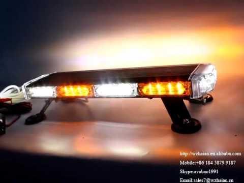 506 4b4 Amber White Led Mini Lightbar Strobe Emergency Light Bar With Working Lights Function 57 5k