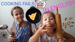 COOKING IN ENGLISH (GRILLED CHEESE SANDWICH FAIL)