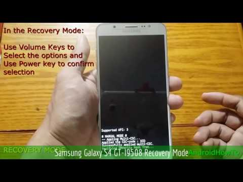 Samsung Galaxy S4 GT-I9508 Recovery Mode