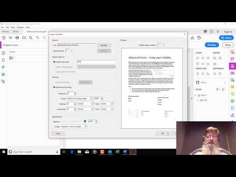 Setting Layer Visibility To Create Advanced Forms With Adobe Acrobat