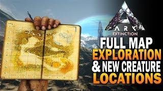 Full Extinction Map Exploration + NEW Creature Locations! Ark Survival Evolved Extinction DLC