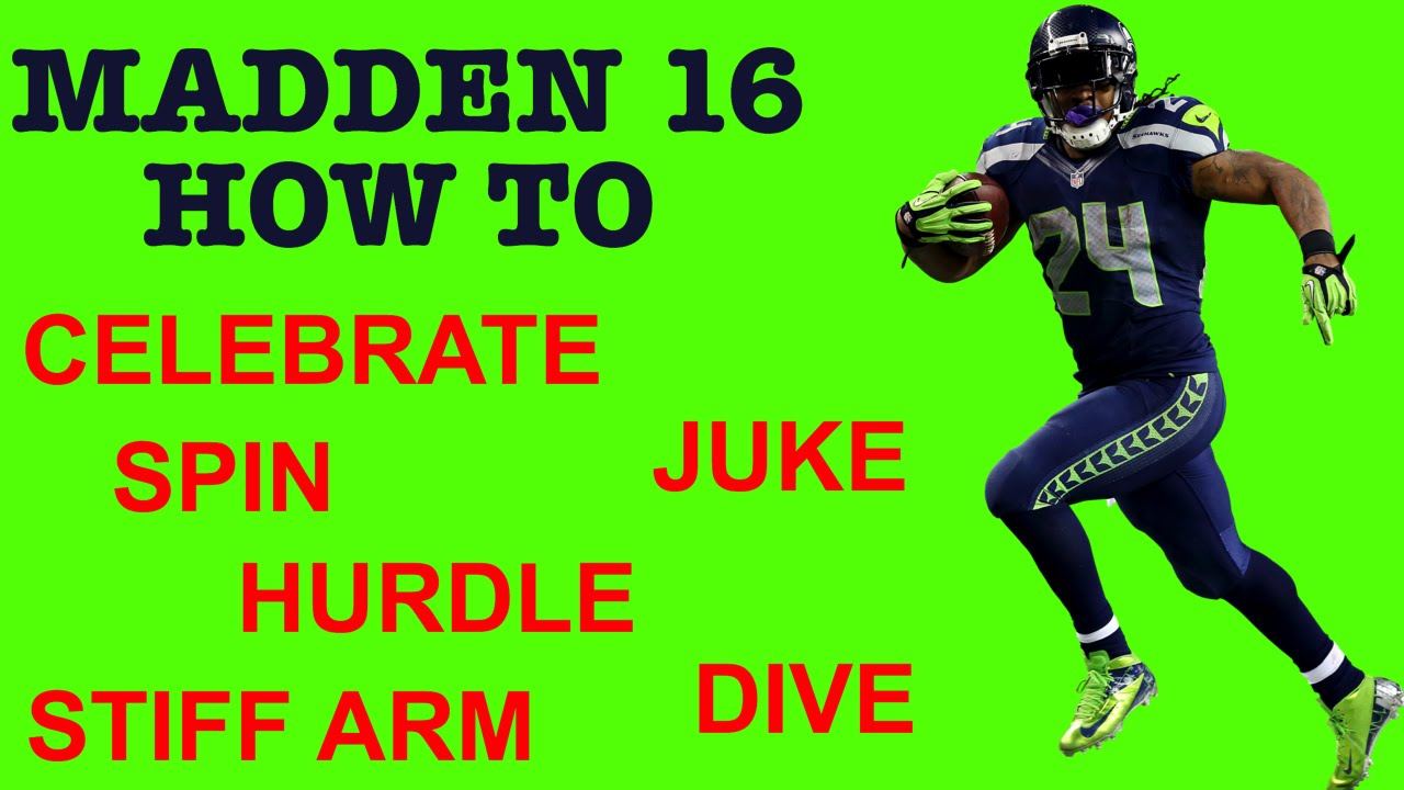 Madden 16 how to celebrate taunt spin juke stiff arm e and
