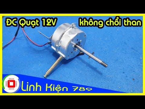 Động cơ quạt 12V không chổi than 240k đã đấu sẵn công tắc núm vặn  Zalo 0399774789